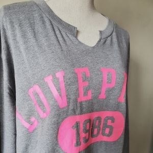 PINK VICTORIA'S SECRET LONG SLEEVE SIZE L